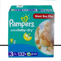Pampers Baby Dry - Giant Box Plus 132 Couches - Taille 3