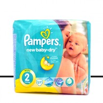 Pampers Baby Dry - 27 Couches - Taille 2