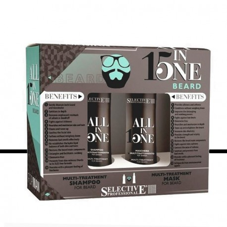 Selective Professional - Kit Barbe - Shampoing & Masque Multi-soin Barbe 2x100ml
