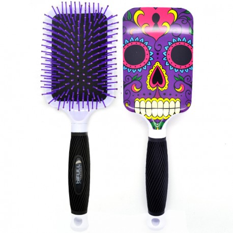 Perfect Beauty - Brosse à Cheveux Bifull Ergonmique - Skully Purple