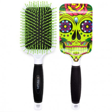 Perfect Beauty - Brosse à Cheveux Bifull Ergonmique - Skully Green