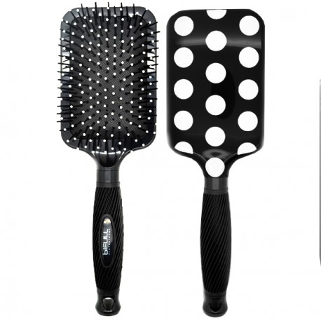 Perfect Beauty - Brosse à Cheveux Bifull Ergonomique - Black Dots