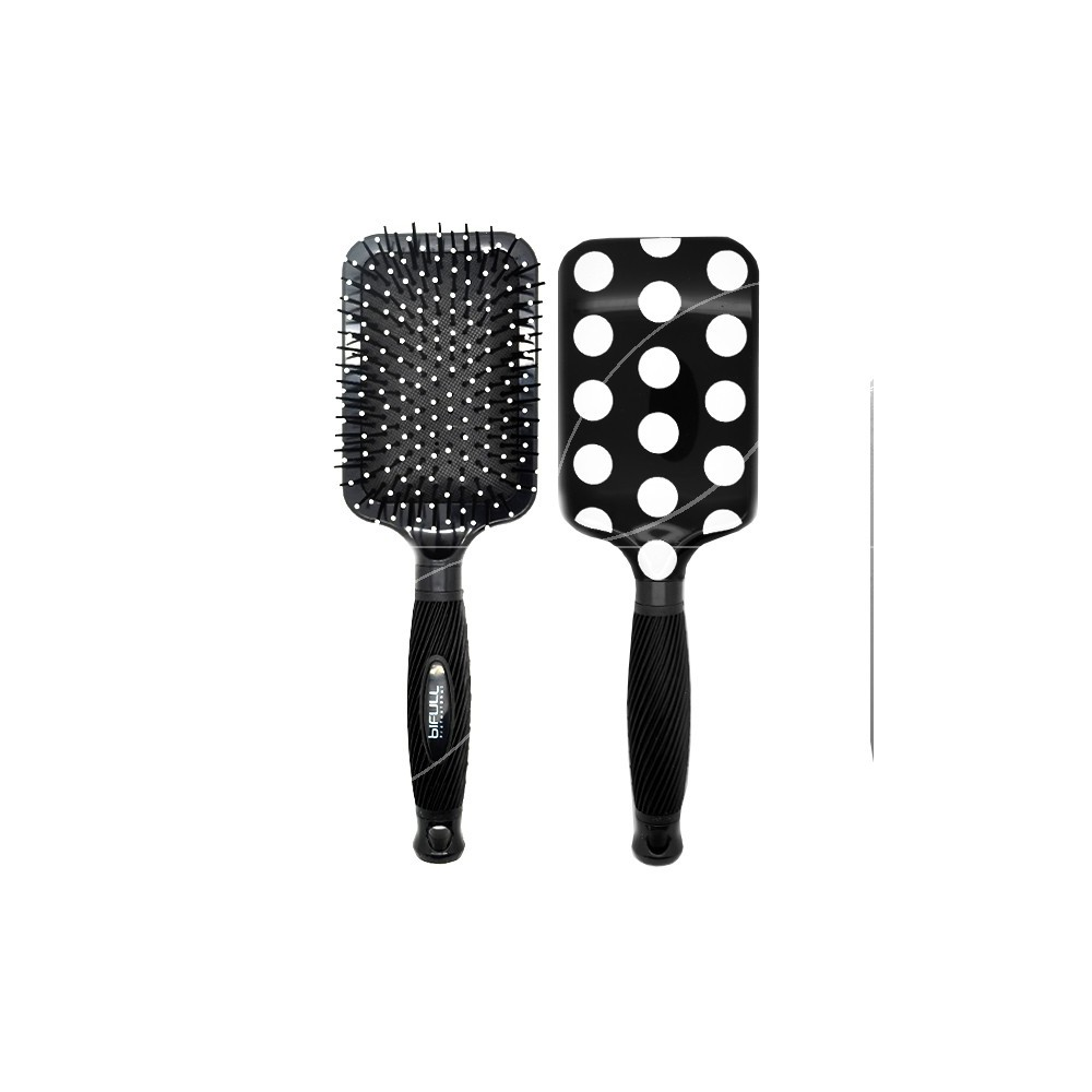 Perfect Beauty - Brosse à Cheveux Bifull Ergonmique - Black Points