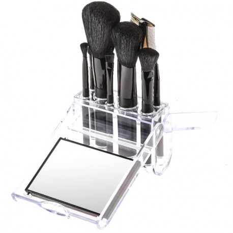 FASHION MAKE UP - Set pinceaux avec Miroir - 11pièces