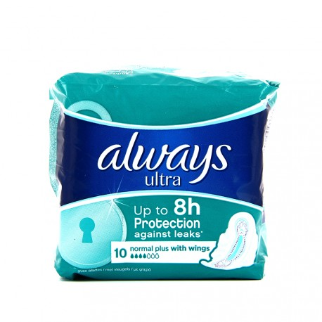 Always Ultra - Serviettes hygiéniques Normal Plus - paquet de 10