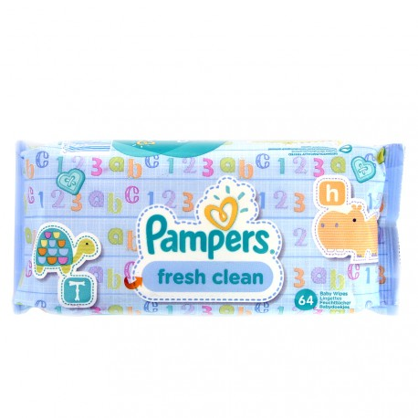 Pampers - 64 Lingettes Bébé - Fresh Clean
