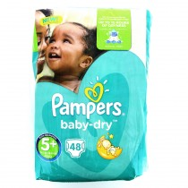 Pampers Baby Dry - 48 couches Taille5+