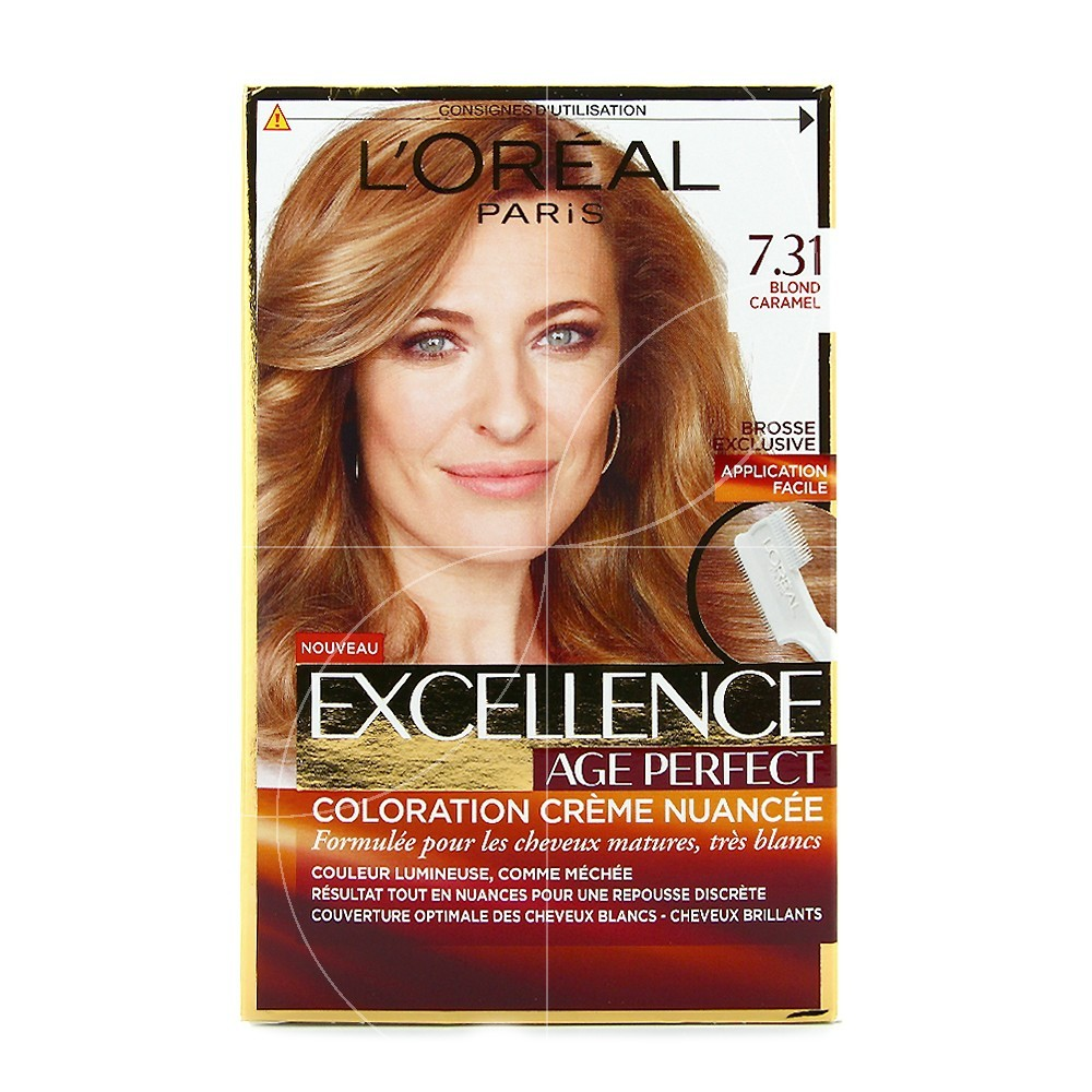 loral excellence age perfect coloration crme nuance 731 blond caramel - Coloration Excellence