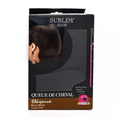 Sublim'Hair - Queue de cheval Elegance Brun Fonçé - 35 cm
