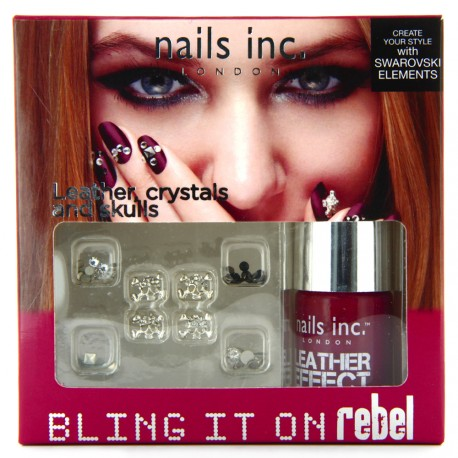 Nails inc - Kit Bling it on Rebel Rouge Swarovski