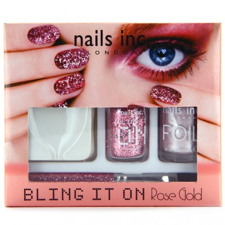Nails inc - Kit Bling it on Rose gold