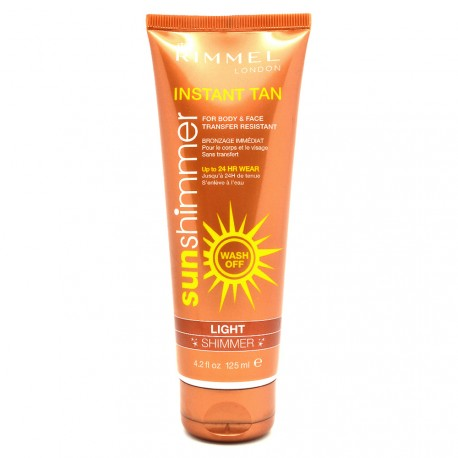 Rimmel London - Sun Shimmer Autobronzant Bronzage immédiat Light - 125ml