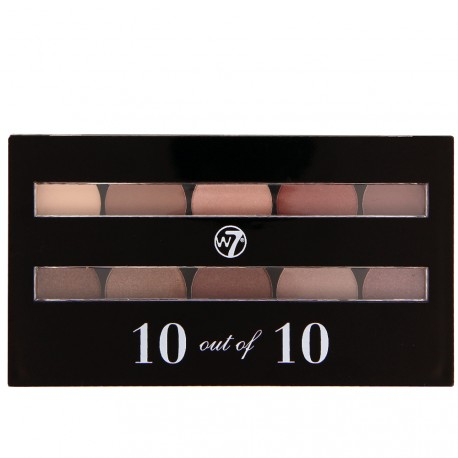 W7 cosmetics - 10 out of 10 Palette de 10 fards à paupières Bruns - 10g