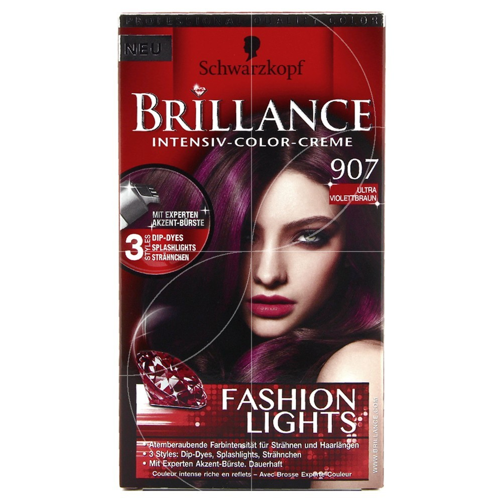 Schwarzkopf Coloration Brillance 907 Châtain Ultra Violet