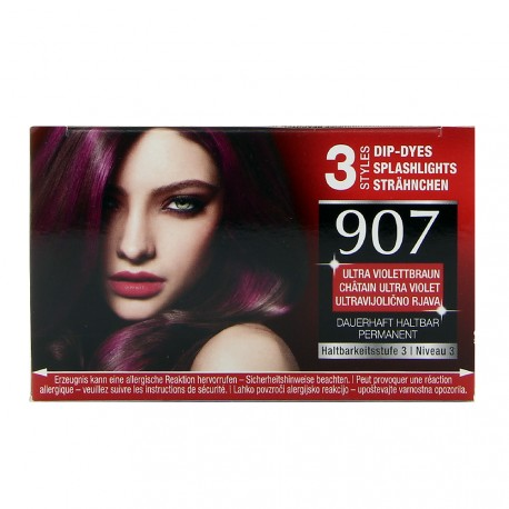 Schwarzkopf - Coloration Brillance 907 Châtain Ultra violet
