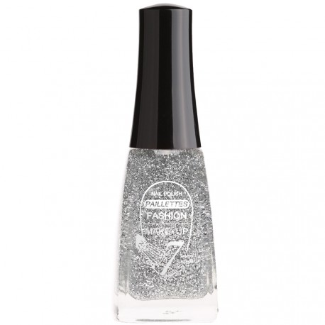 Fashion Make-Up - Vernis à ongles Paillettes N °201 Argent - 11ml
