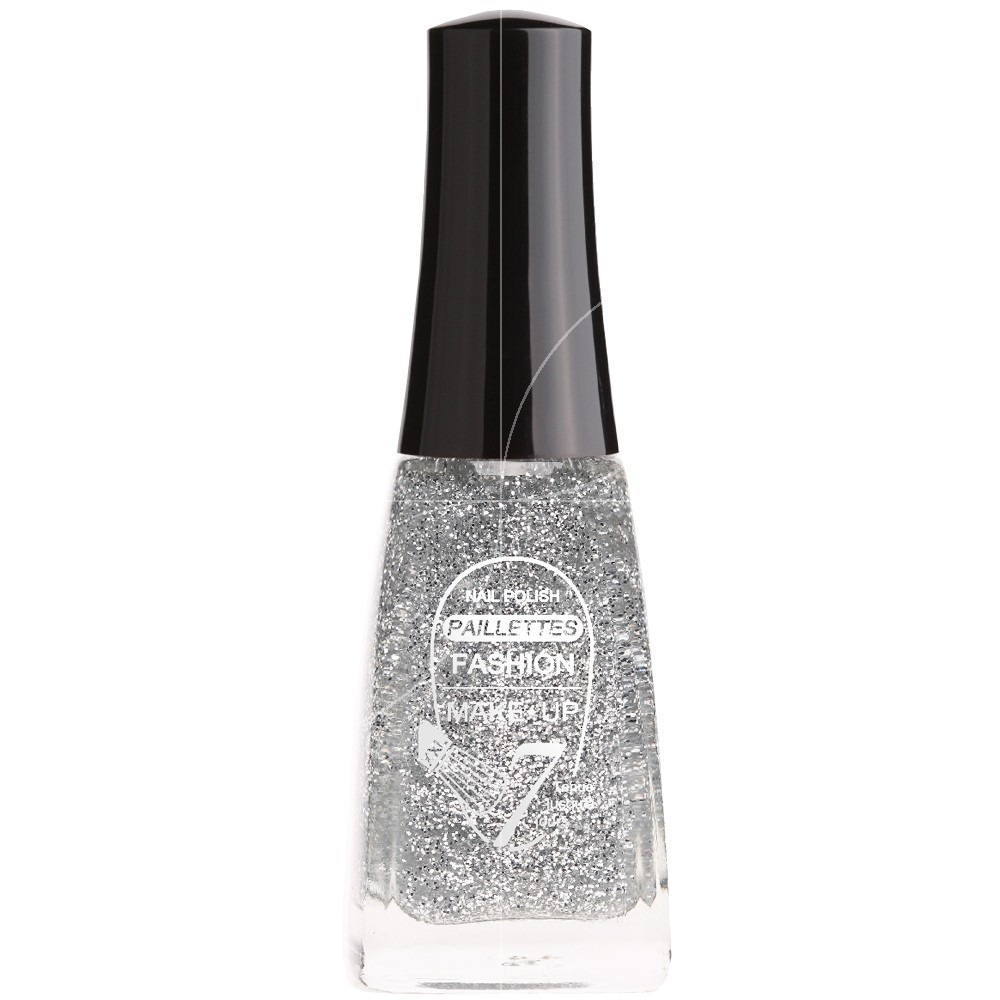 Fashion Make Up - Vernis à ongles Paillettes N °201 Argent - 11ml