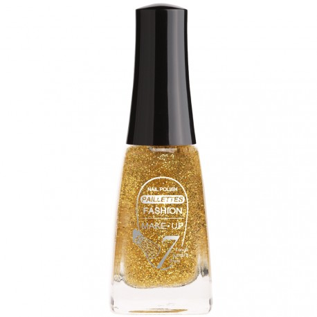 Fashion Make-Up - Vernis à ongles Paillettes N°202 Or - 11ml