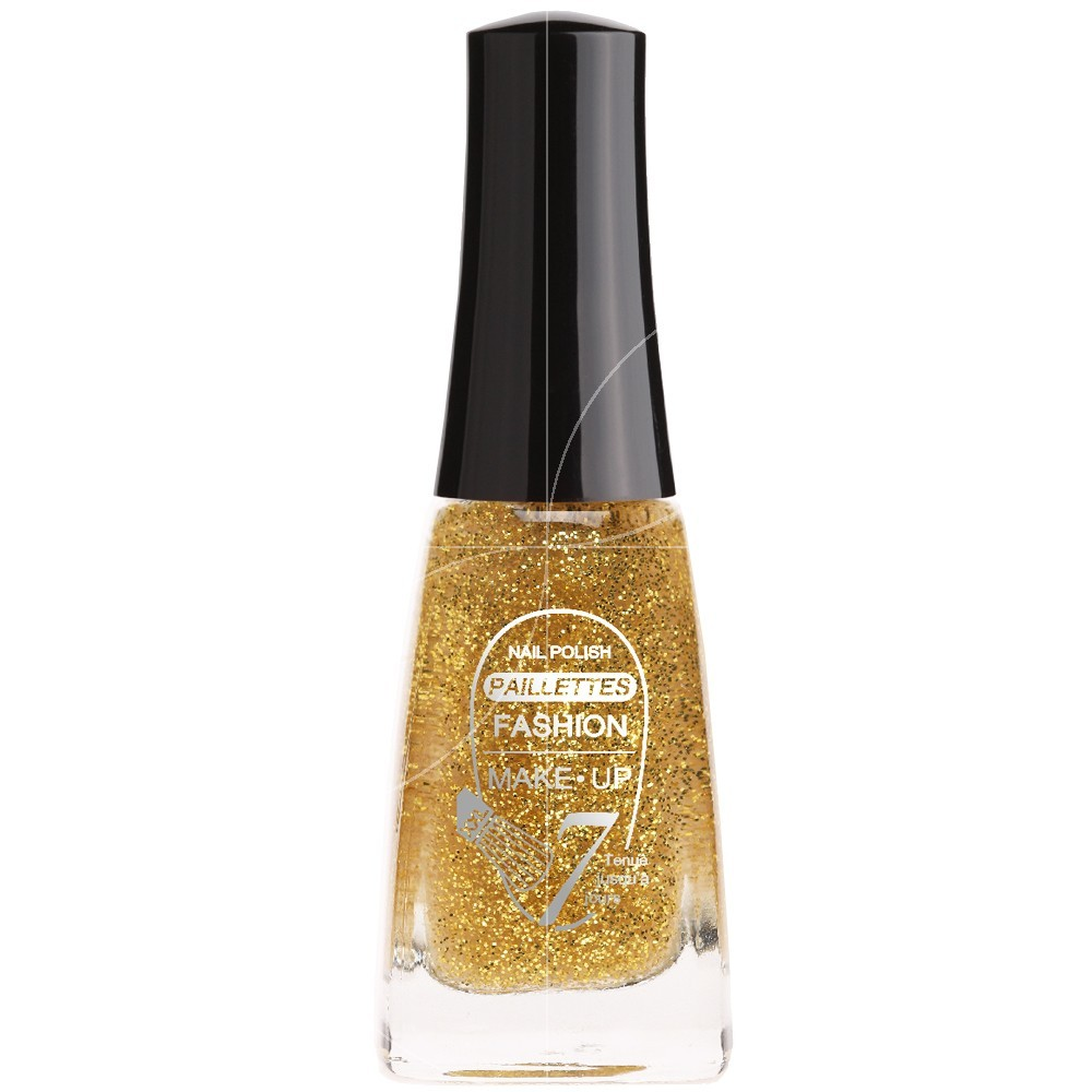 Fashion Make Up - Vernis à ongles Paillettes N°202 Or - 11ml