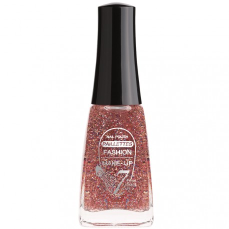 Fashion Make-Up - Vernis à ongles Paillettes N°203 Rose & bleu - 11ml