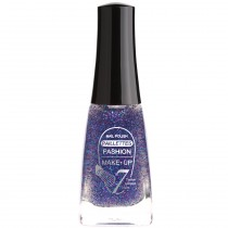 Fashion Make-Up - Vernis à ongles Paillettes N °205 Bleu Marine - 11ml