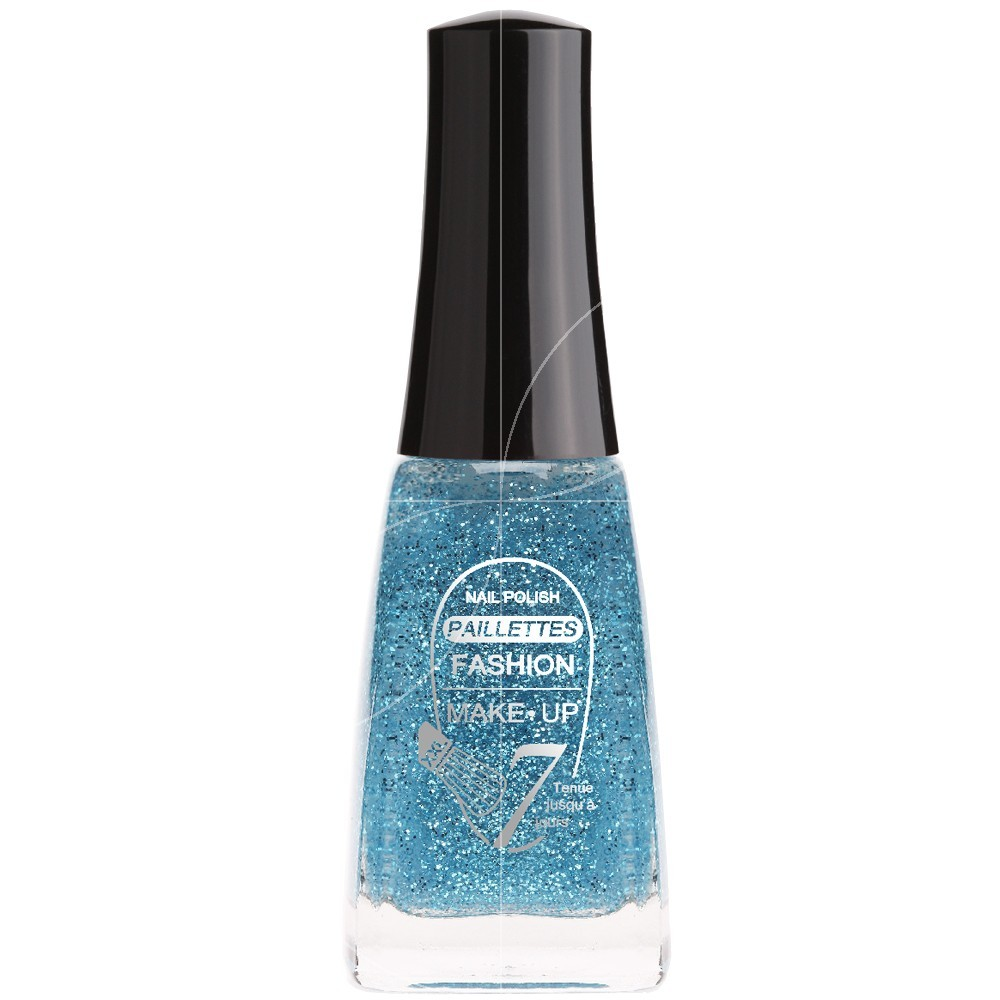 Fashion Make Up - Vernis à ongles Paillettes N°206 Bleu - 11ml