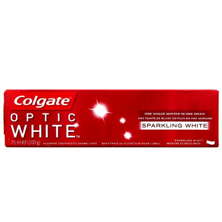 Colgate - Optic White Dentifrice Blancheur Menthe étincelante - 75ml