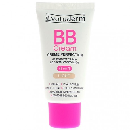 EVOLUDERM - BB Cream Crème Perfection Light - 6 en 1 - 50ml