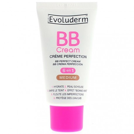EVOLUDERM - BB Cream Crème Perfection Médium - 6 en 1 - 50ml