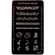 KONAD - Plaques stamping Nail Art fantaisie N°1