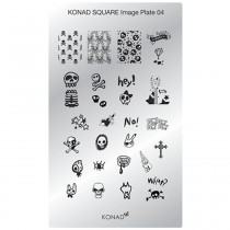 KONAD - Plaques stamping Nail Art rectangulaire N°4