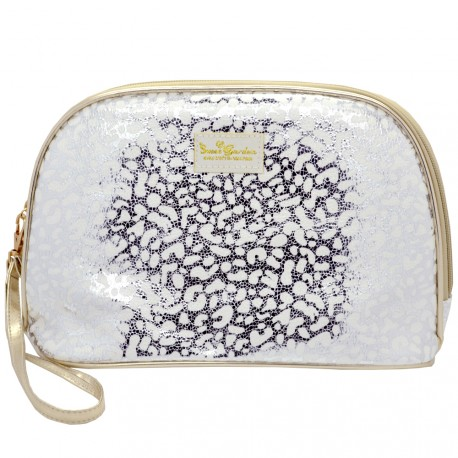Sweet & Candy - Trousse Leopard Argent - Grand format