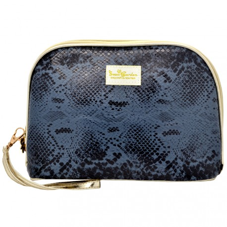 Sweet & Candy - Trousse imitation Serpent Noir - Moyen format