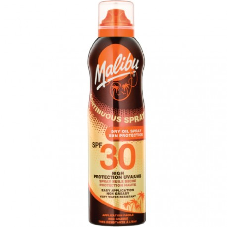 Malibu - Spray huile sèche protection UVA 30 SPF - 175ml