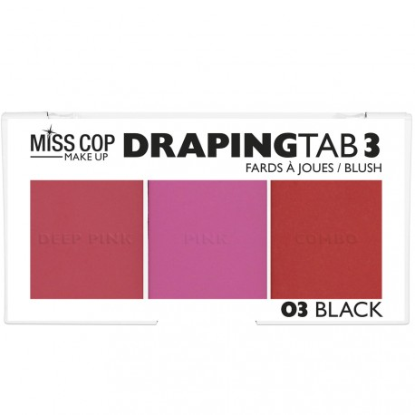 Miss cop - Palette blush Draping tab 03 Black
