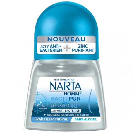 Narta Homme - Bacti-pur Déodorant roll-on 48h - 50ml