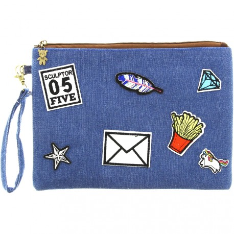 Sweet & Candy - Pochette jean & patch 05 Five