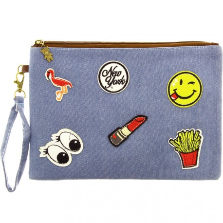 Sweet & Candy - Pochette jean & patch New york