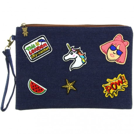 Sweet & Candy - Pochette jean & patch London