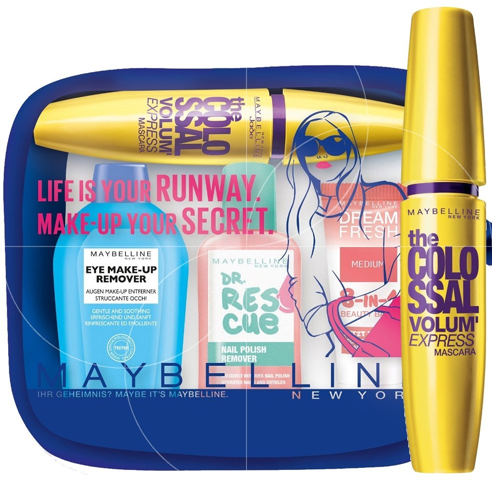 Gemey Maybelline - Kit voyage Colossal Volum' express