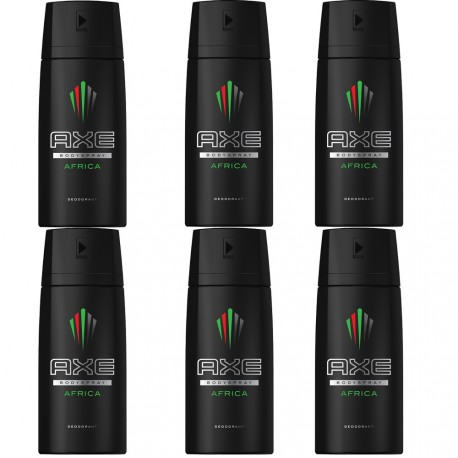 Axe Africa - Lot de 6 déodorants homme bodyspray - 6x150ml
