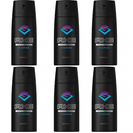 Axe Marine - Lot de 6 déodorants homme bodyspray - 6x150ml