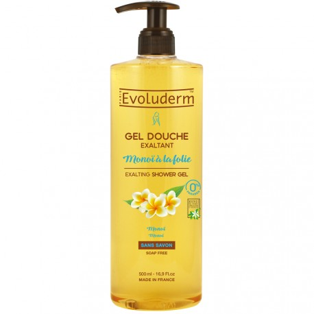 Evoluderm - Gel douche Exaltant Monoï à la Folie - 500ml