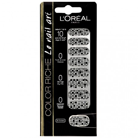 L'Oréal - Color riche Le Nail Art - Stickers pour Ongles 013 Disco diamond