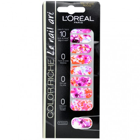 L'Oréal - Color riche Le Nail Art - Stickers pour Ongles 031 Tie Dye rocks