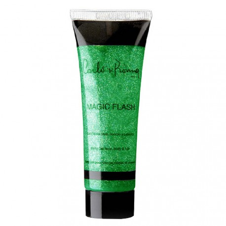 Carlo di roma - Magic flash Gel paillettes Vert - visage, corps & cheveux - 30ml