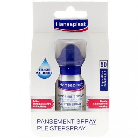 Hansaplast - Pansement spray transparent et étanche - 32,5 ml
