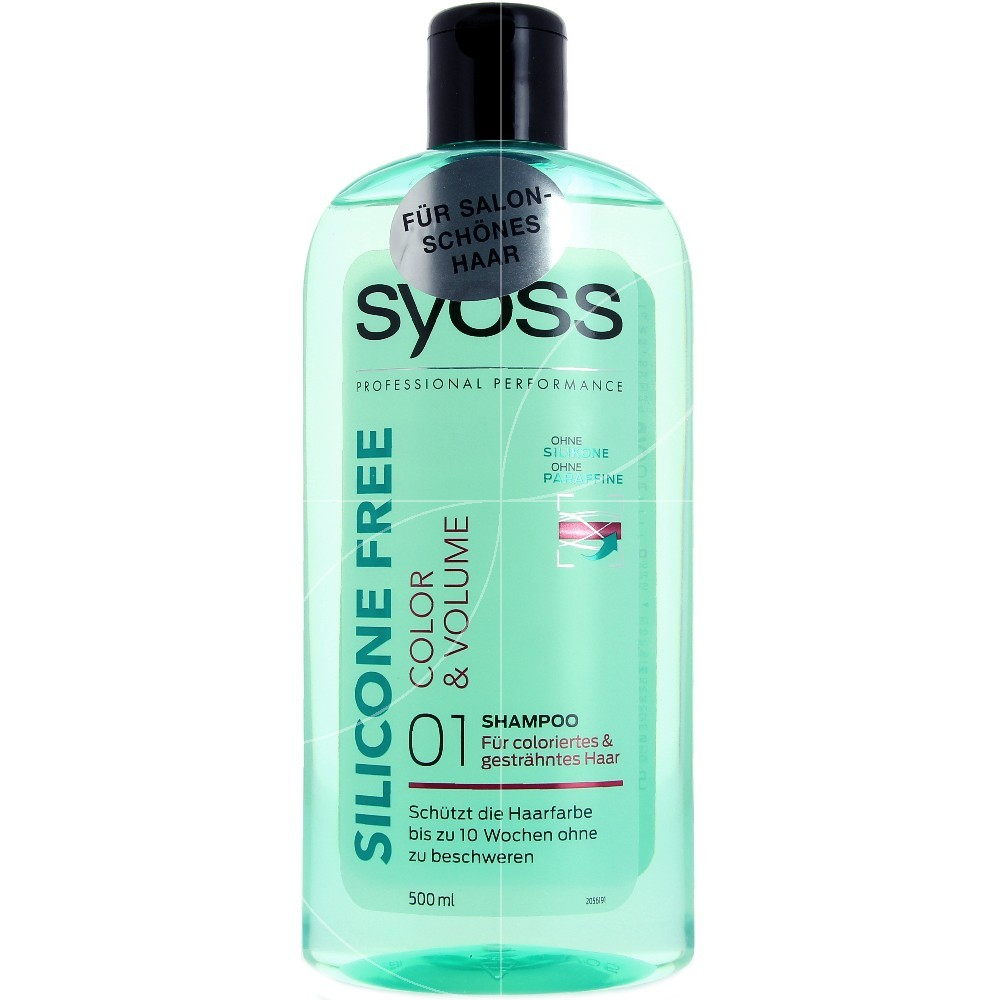 Syoss - Shampooing Sans Silicone Color & Volume - 500ml
