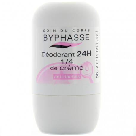 Byphasse - Déodorant 24h 1/4 de crème roll-on - 50ml