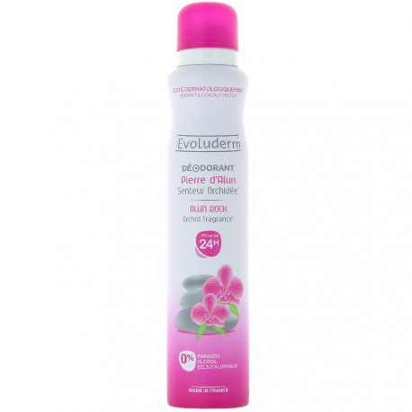 Evoluderm - Déodorant spray pierre d'alun senteur orchidée - 200ml